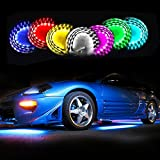 Zone Tech 7 Color LED Under Car Glow Underbody System Neon Lights Kit w/Sound Active Function and Wireless Remote Control