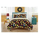 Emoji Pals Reversible Bed in a Bag Comforter Set Emoji Pals Reversible Bed in a Bag Comforter Set (Queen, Bling)