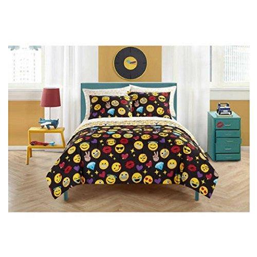 Emoji Pals Reversible Bed in a Bag Comforter Set (Queen, Bling)
