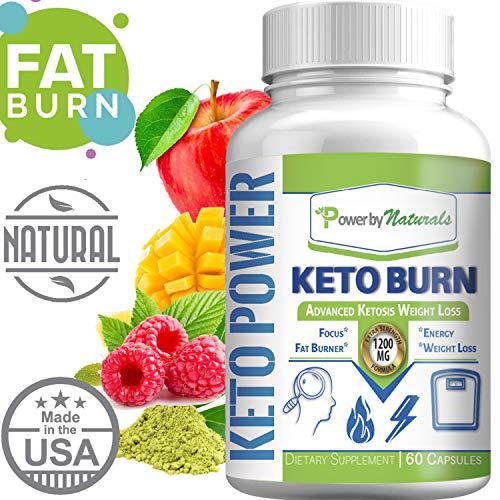 (Keto Power ★ Keto Burn Pills Ketosis Weight Loss ★ 1200 Mg Advanced Natural Ketogenic Fat Burner Using Ketone Diet, Boost Energy Focus & Metabolism Appetite Suppressant for Men and Women 60 Capsules)