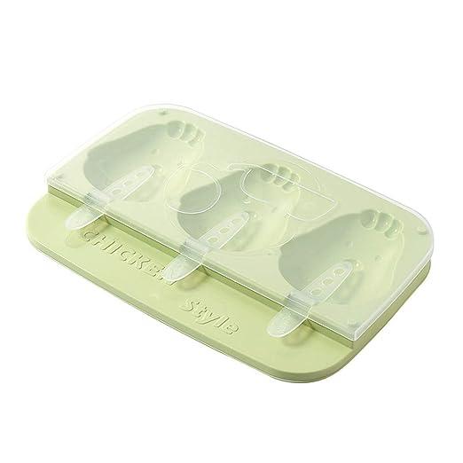 DDLmax Moldes de silicona para hielo con forma de pollo, 3 ...