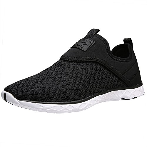 ALEADER Women's Slip-on Athletic Water Shoes Black 7 D US