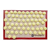 Silicone Baking Mat, Nonstick Mat, Heat Resistant Baking Mat, Cookie Mat - Full Sheet - 15.75' x 23.60' - 1ct Box - Restaurantware