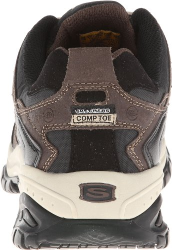 Skechers Hombres Work Relaxed Fit Soft Stride Grinnel Comp, Marrón / Negro - 9 D (m) Us