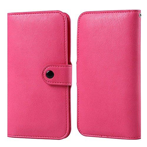 VG PU Leather Executive Design Wallet Pouch Case for LG V10, LG Stylus 2, LG G5, G4, LG G Stylo, G Vista 2, ASUS ZenFone 3, Magenta (Phone Cases Lg Vista Cowboy)
