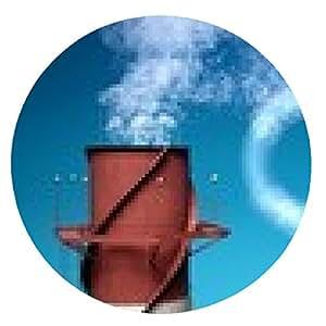 alfombrilla de ratón Dióxido de carbono. 3D. El dióxido de carbono que provoca el calentamiento global XXL - ronda - 20cm