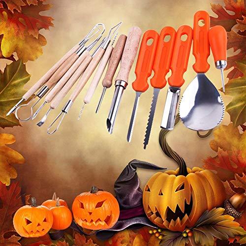 Greatown 5PCS/ 13PCS Halloween Pumpkin Carving Kit Cutter Melon Fruit Kitchen Cutter Children Pumpkin Lamp Decoration Tool Carving Cutter -