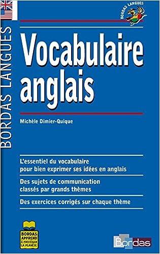 Bordas Langues Vocabulaire Anglais Pdf Telecharger