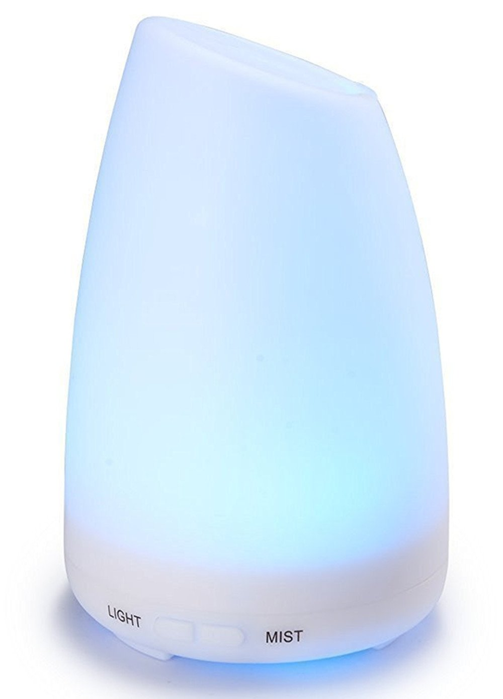 Aroma Diffuser,Running Fish 100ml Ultrasonic Cool Mist Air Humidifier Aromatherapy Essential Diffuser with 7 Colorful Lights Waterless Auto Shut Off for Baby Living Room Bedroom Yoga Office Spa -100ml