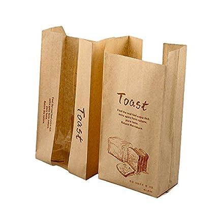 Bolsas de papel Kraft sándwich pan bolsas de almuerzo, pack ...