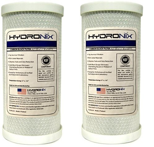 Hydronix CB-45-1005 NSF Carbon Block Filter 4.5'' OD X 9 7/8'' Length, 5 Micron (2-(Pack)) by Hydronix