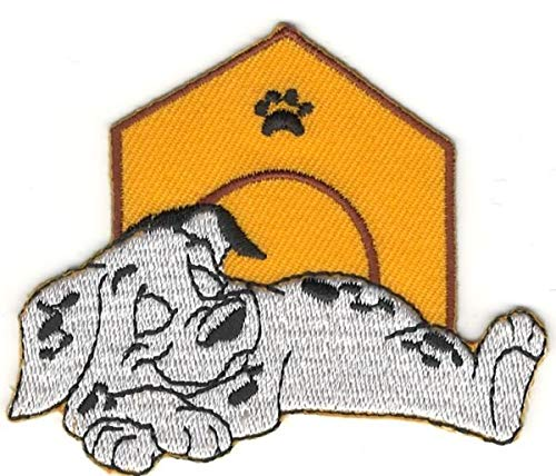 Embroidery Dalmatian (Sleeping Dipstick 101 Dalmatians Cartoon Character Custom Embroidery Patch)