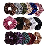 Ondder Velvet Scrunchies Hair Bobble Elastics Hair Scrunchy Hair Bands Headbands Women Scrunchies Bobbles Hair Ties, 16 Colors