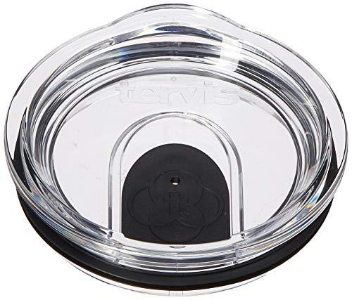 Tervis 1308461 Clear and Black Slider Lid for Stainless Steel Tumblers, For 12 oz and 20 oz