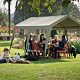 Canvas waterproof gazebo for camping, patio or tailgating. Spacious outdoor canopy. Bushtec Adventure Zulu 1200 fire retardant camping or outfitter tent with long lasting military grade canvas.