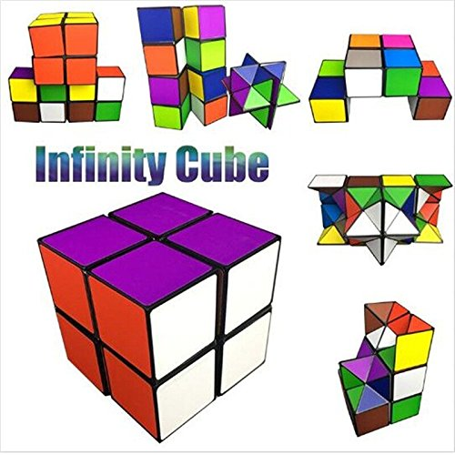 Infinity Cube Fidget Toy cAoku 2017 Newest Magic Toy Unlimited Fidget Cube with Triangular Accessory Inside Stress Anxiety Relief Toy