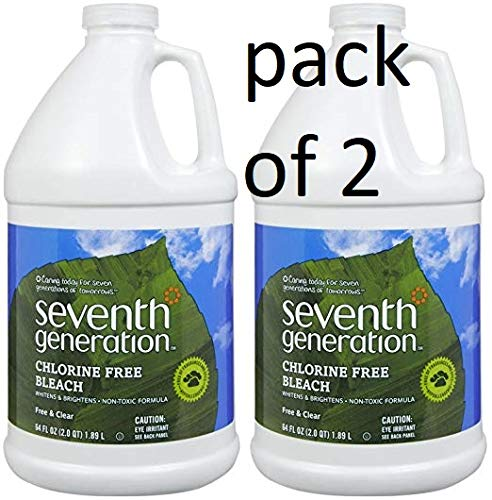 Seventh Generation Chlorine Free Bleach, Free & Clear, 64oz, ()