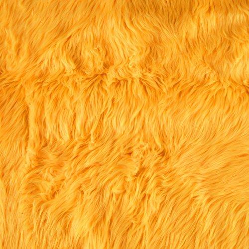 Shannon Faux Fur Luxury Shag Neon Yellow
