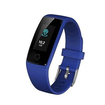 Zmsdt Reloj Inteligente Anillo Presión Arterial Ritmo Cardíaco Monitorización De La Salud Bluetooth Deportes Información del Paso Recuerda Smart Pulsera ...