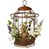 National Tree 12 Inch Wire Birdcage with Natural Wood Nest and Bunny (RAE-F030103A) Review