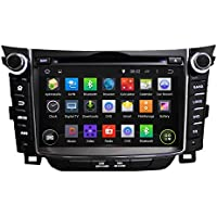 7 Android 6.0 Otca Quad Vehicle DVD Multimedia GPS Player System For Hyundai I30 2011 2012 2013 2014 With Car Stereo Radio WIFI Bluetooth Steering Wheel Control