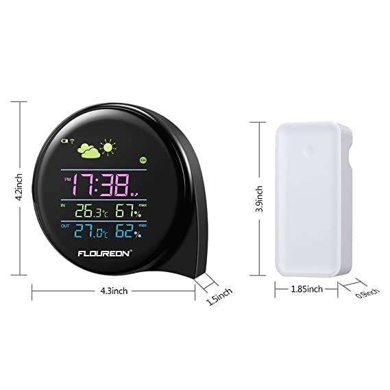 Amazon.com: floureon Wireless Weather Station Temperature Humidity Weather Forecast Thermometer: Home & Kitchen
