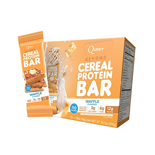Quest Nutrition Beyond Cereal Protein Bar, Waffle Flavor ...
