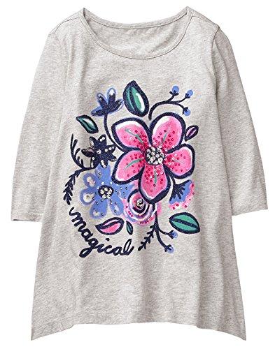 Gymboree Girls' Little' Graphic Sharkbite Tunic, Flower, M