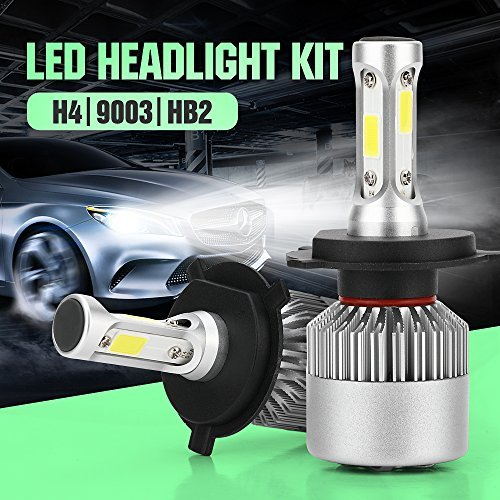 Car Headlamp Bulbs (H4 LED Headlight Conversion Kit, Auto Car Led Headlamp Car Bulbs, 6000K Cool White , All-in-One Error Free Design (H4 (HB2/9003)))