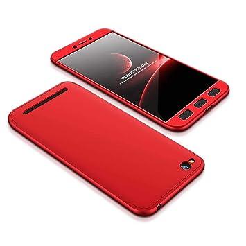 YFXP Xiaomi Redmi 5A Funda - Funda Xiaomi Redmi 5A 360 Grados Integral para Ambas Caras + Cristal Templado, Luxury 3 in 1 PC Hard Skin Carcasa Case ...