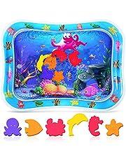 Crislove Tummy Time vattenmatta för spädbarn, uppblåsbar lekmatta perfekta sensoriska leksaker för baby 3, 6, 9 månader nyfödda flickor pojkar, BPA-fri rolig aktivitet lekcenter för baby tidig utveckling (76 x 60 cm)