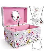 Unicorn Jewelry Box for Girls - 3 Unicorns Gifts for Girls - Girls Jewelry Box - Girls Jewelry Set - Unicorn Music Box for Girls - Unicorn Jewelry for Girls