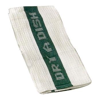 "San Jamar 700WKT Cotton Kitchen ""Dry-A-Dish"" Towel, 24"" Length x 14"" Width (Pack of 12)"