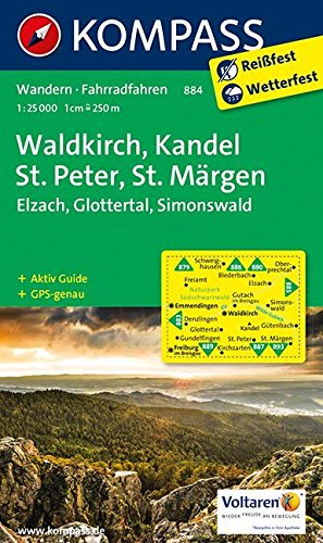 Waldkirch, Kandel, St.Peter, St. Märgen: Wanderkarte mit Aktiv Guide und Radwegen. GPS-genau. 1:25000 (KOMPASS-Wanderkarten, Band 884) Landkarte – Folded Map, 19. Juni 2017 KOMPASS-Karten GmbH 3850265056 Baden-Württemberg Alpinismus
