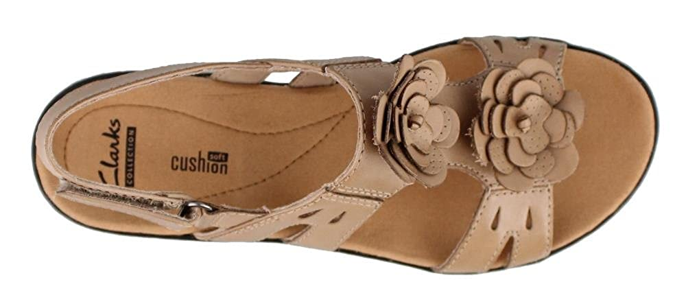 Clarks Damens's Leisa Claytin Strappy Sandale,Sand - Leder,US 9.5 N - Sandale,Sand 217f88
