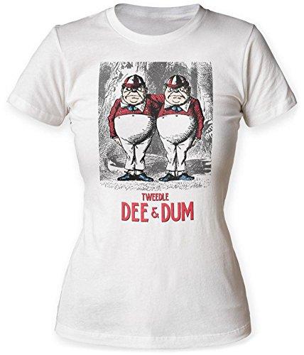 Juniors: Alice In Wonderland- Vintage Tweedle Dee & Dum Juniors (Slim) T-Shirt Size XL]()