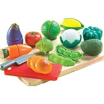 Cutting food playset for kids with 13 fruits for Small childrens kitchen set