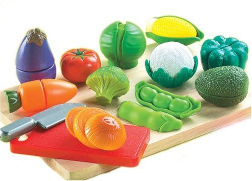 Cutting Food Set (Small World Toys Living - Peel 'N' Play 13 Pc. Playset)