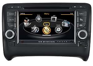 AudioCarSystem AUDI TT (2006-2012) - Instalación OEM - Pantalla Tácil lector DVD radio MP3 USB SD MPE4 MPEG2- navigación GPS 3D - TV iPod USB - Bluetooth manos libres +++ Garantía AudioCarSystem+++