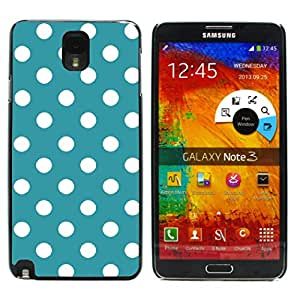 Graphic4You Polka Dots Pattern Design Hard Case Cover for Samsung Galaxy Note 3 (Turquoise)