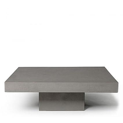 Amazon.com: Lyon Beton T Square Coffee Table - Light Grey ...