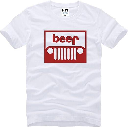 Oudan Camisa de algodón con Cuello Redondo y Camiseta Blanca de ...