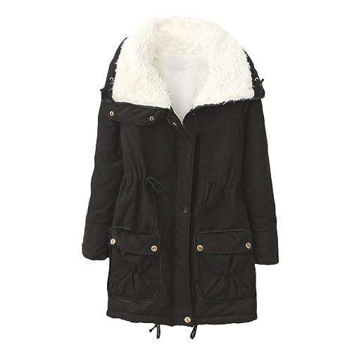 Zhhlinyuan Chic et élégant Outdoor Cotton Thicken Zip Workers Jackets with Pocket Hiver Coats pour...