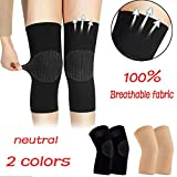 Glumes Sports Knee Support Sleeves Knee Brace (Pair) for Men & Women Joint Pain & Arthritis Relief, Improved Circulation Compression Effective Support Running Jogging Workout Walking