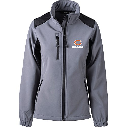 Dunbrooke Apparel NFL Chicago Bears Women's Softshell Jacket, Small, Graphite by Dunbrooke Apparel