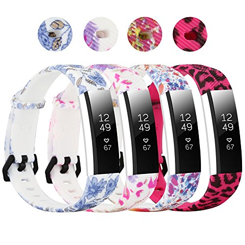 honecumi for Fitbit Alta/Alta HR Wristbands/Strap Small Large Stripe Watchbands Replacement Accessory Colorful Watch Strap with Buckle for Men&Women