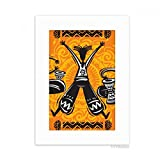 DIYthinker Dance Celebrate Mexico Totems Tambourine Desktop Photo Frame Picture White Art Painting 5x7 inch