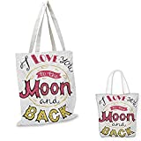I Love You Small Clear Shopping Bag I Love You to The Moon