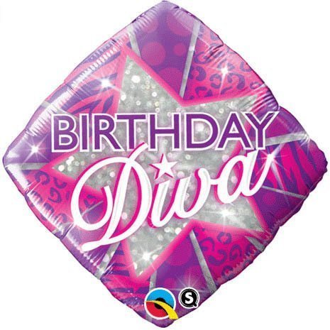 PIONEER BALLOON COMPANY B'day Diva Foil Pack, 18
