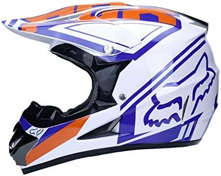WZFC Casco Motocross Eduro Homologado Casco De Moto Cross Integral para Mujer Hombre Adultos (Modelo-Fox-9)